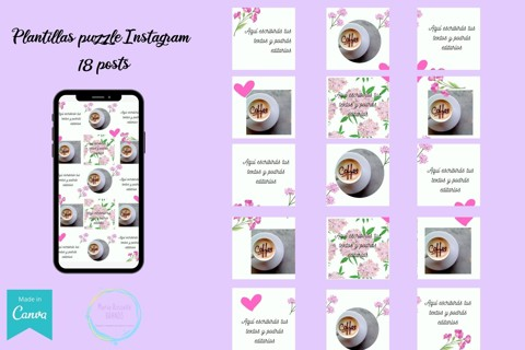 PLANTILLAS INSTAGRAM PUZZLE 18 POSTS